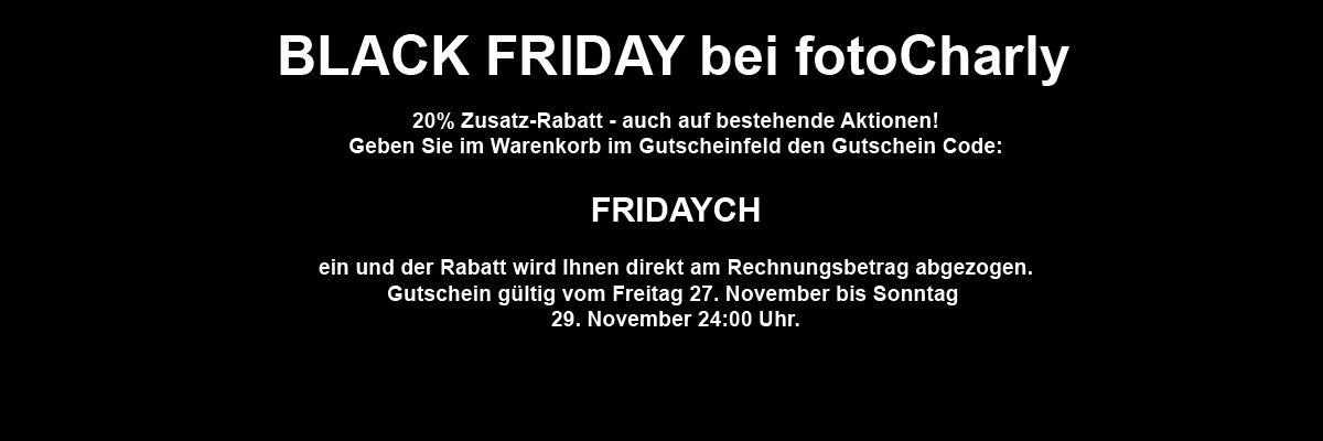 Black Friday bei fotoCharly